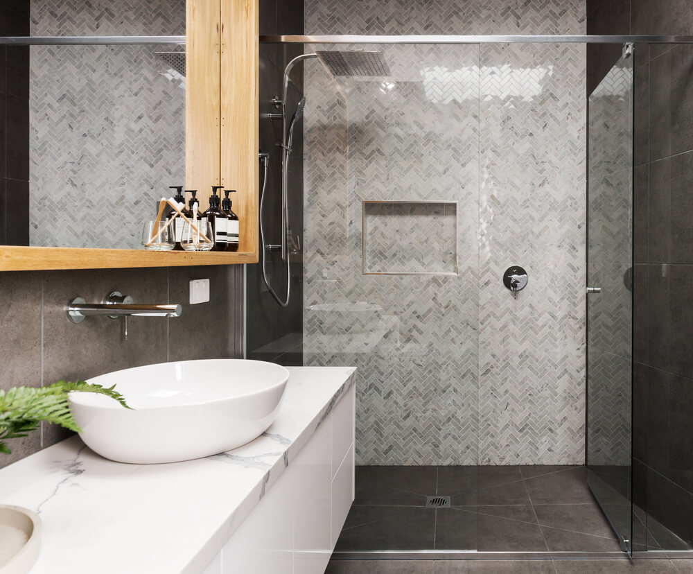 Trendy Frameless Glass Shower Doors Provide Spa Appeal